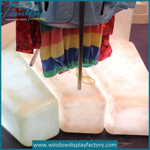 Fake Custom Square Fiberglass Ice Cube Decoration