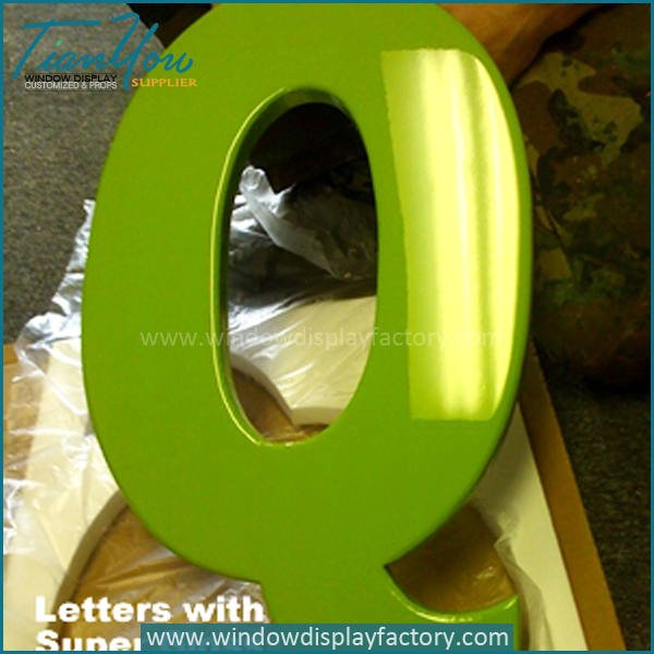 Outdoor Colorful Fiberglass Giant Letters Display