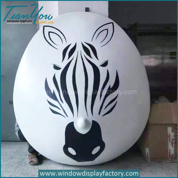 Hand Made Giant Colored Fiberglass Mask Decoration