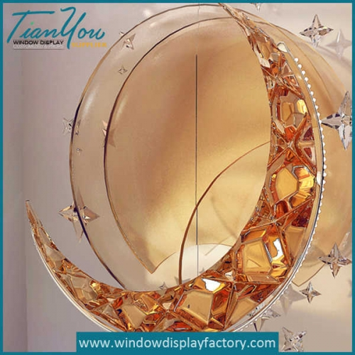 Attractive Acrylic Moon Star 3D Led Light Props