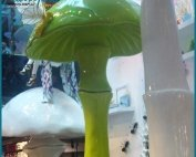 Custom Colored Fiberglass Mushroom Decoration