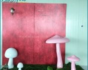 Artificial Popular Giant Fiberglass Mushroom Decoration