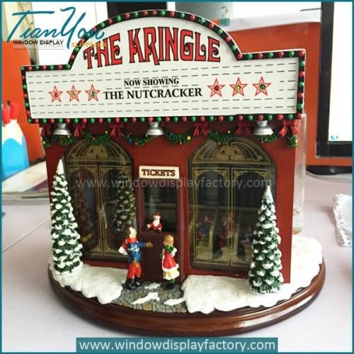 Visual Display Fiberglass Music Box Christmas Decoration