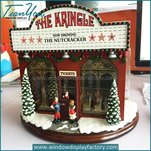Visual Display Fiberglass Music Box Christmas Decoration