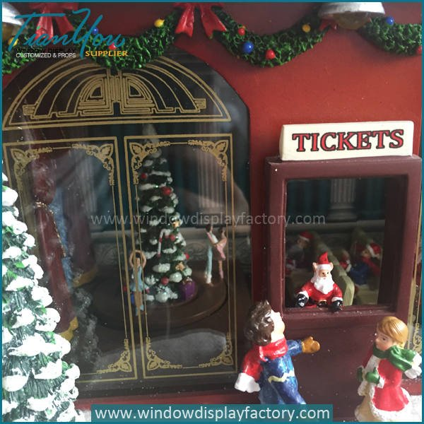 music box4 - Visual Display Fiberglass Music Box Christmas Decoration