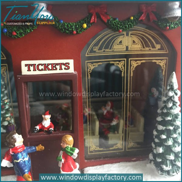 music box5 - Visual Display Fiberglass Music Box Christmas Decoration