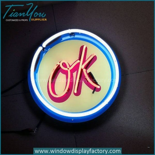 Popular OK Neon Light Signs Decoration