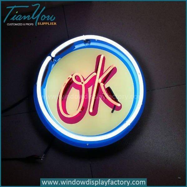 Popular OK Neon Light Signs Decoration