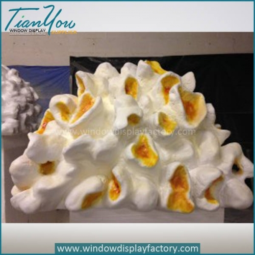 Artificial High Imitation Fiberglass Popcorn Display