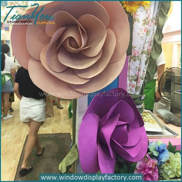 Colorful Giant Custom PVC Wedding Flowers Display