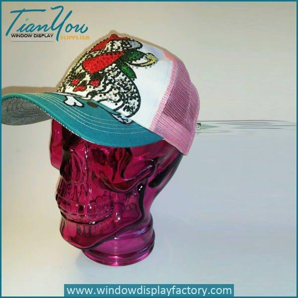 red glass skull decoration - Halloween Decoration Glass Skull Head Display