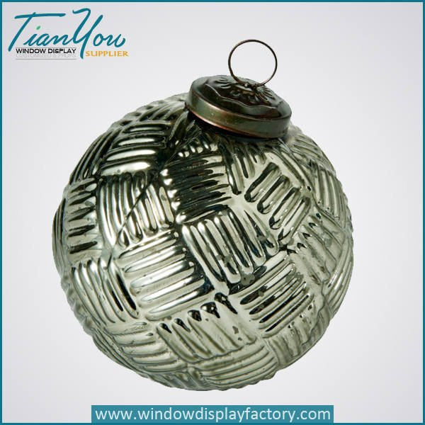 resin electroplated christmas ball silver  - Electroplate Colorful Cute Resin Christmas Ball Decoration