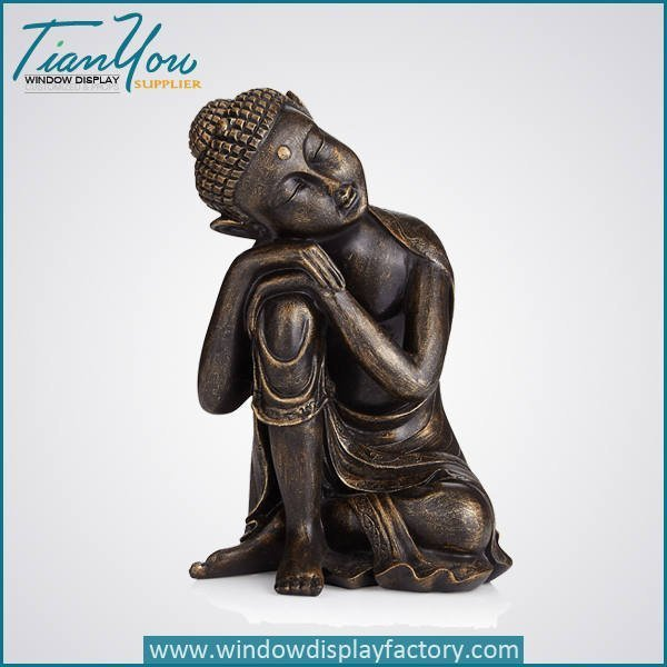 Imitation Wood Resin Buddha Figure Decoration