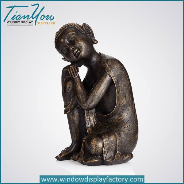 resin imitation wood buddha decoration2 - Imitation Wood Resin Buddha Figure Decoration