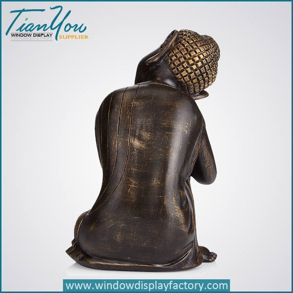 resin imitation wood buddha decoration3 - Imitation Wood Resin Buddha Figure Decoration