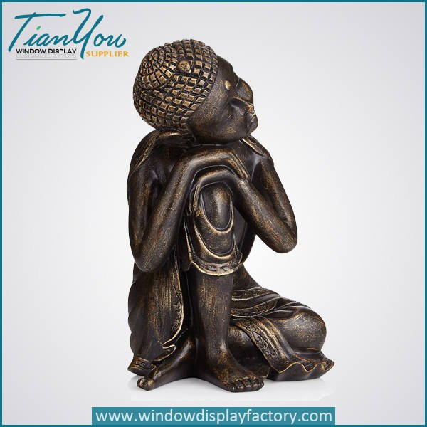 resin imitation wood buddha decoration4 - Imitation Wood Resin Buddha Figure Decoration