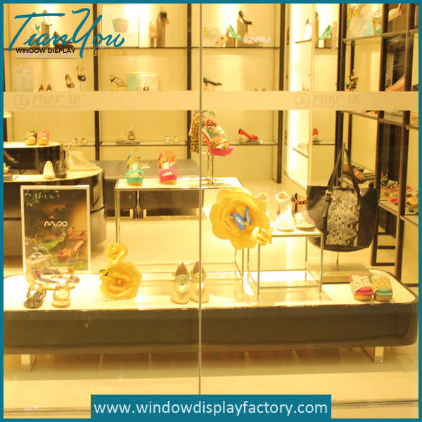 Life Size Fiberglass Display Case for Shoes Window Display