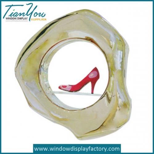 Custom Red Fiberglass Shoes Statues Display