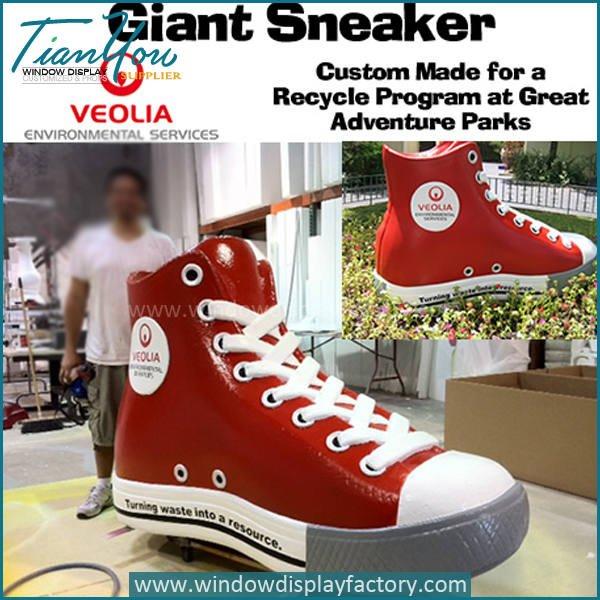 shoes2 - Custom Giant Fake Fiberglass Shoes Display Props