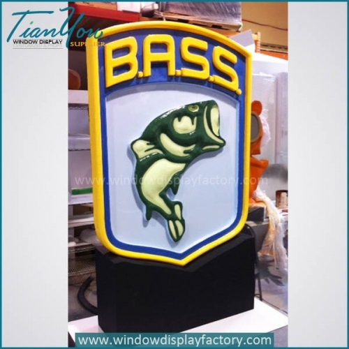 Outdoor Colorful Giant Acrylic Brand Signs Display
