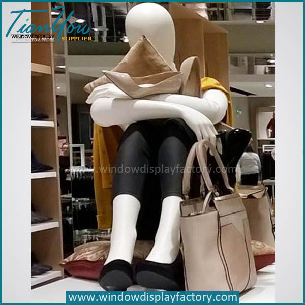 sitting mannequin - Modern Popular Colored Sitting Mannequins Display
