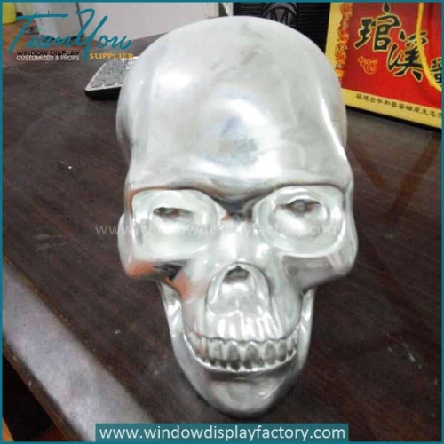 Halloween Decoration Resin Skull Head Display