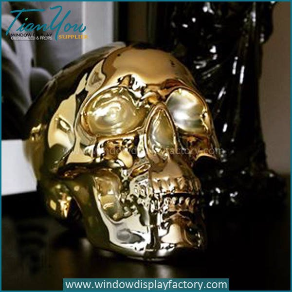 skull3 - Halloween Decoration Resin Skull Head Display