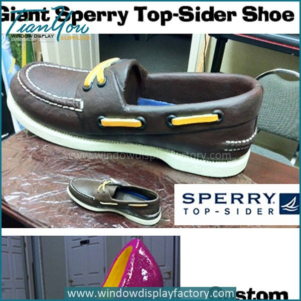 sperry shoes - Custom Giant Fake Fiberglass Shoes Display Props