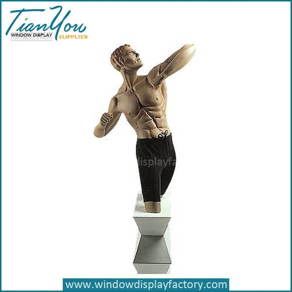 sports male mannequin for shop display - Custom Sports Store Mannequin for Shop Display