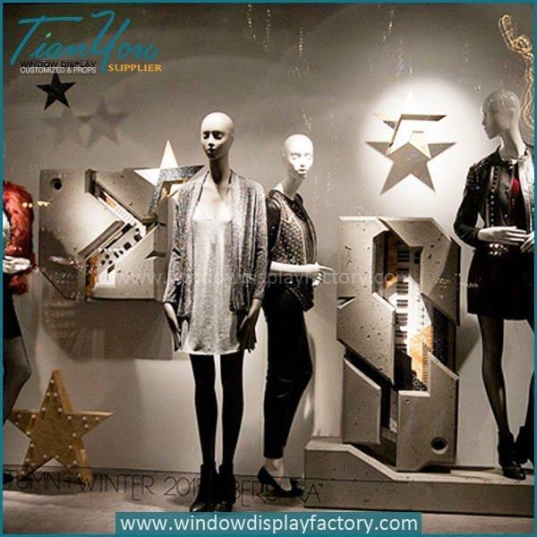Custom Popular Star Clothes Shop Window Display
