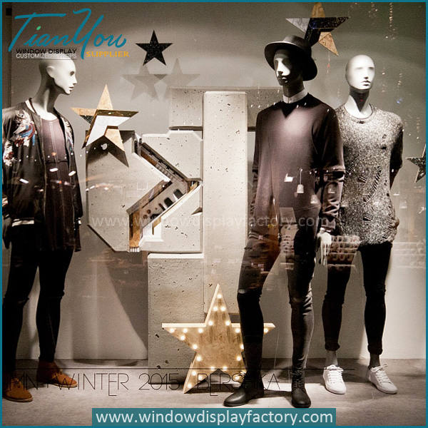 star3 - Custom Popular Star Clothes Shop Window Display