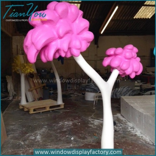 Lovely Colorful Fake Fiberglass Tree Props Decoration