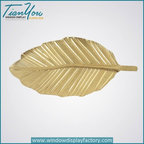Vintage Decorative Giant Fiberglass Golden Leaf