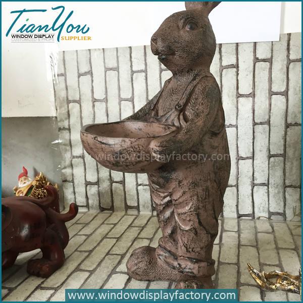 Custom Popular Vintage Resin Rabbit Craft