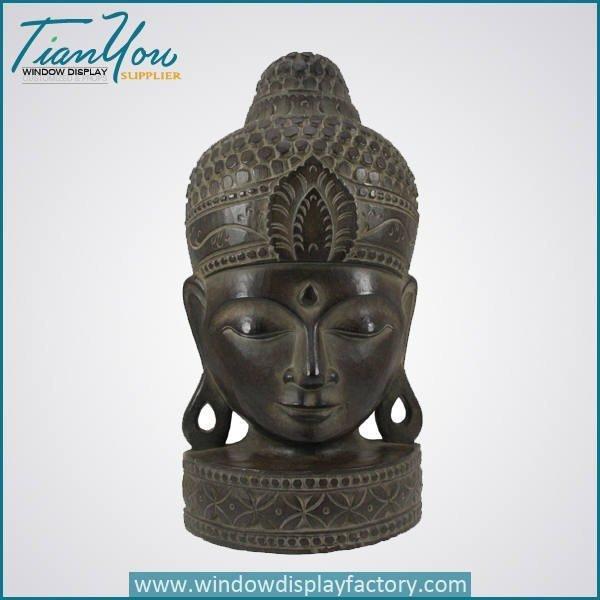 Antique Craft Brass Color Fiberglass Buddha Head