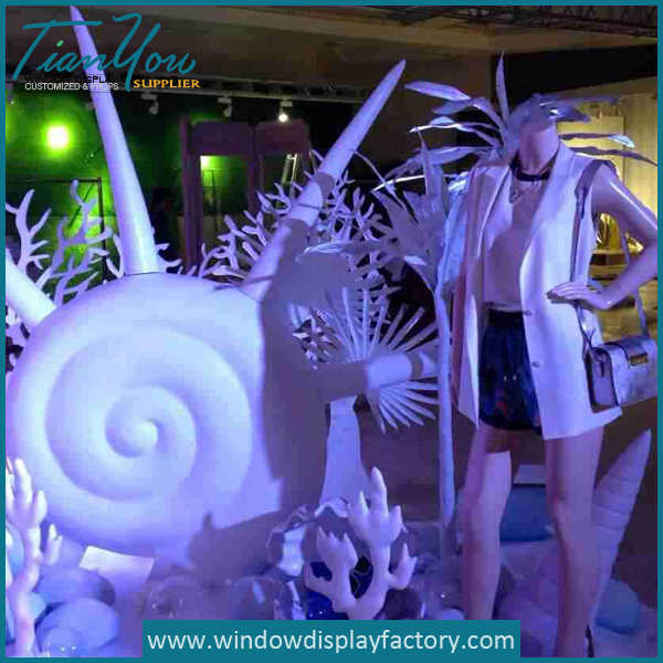 window7a - Custom White Theme Foam Displays Props