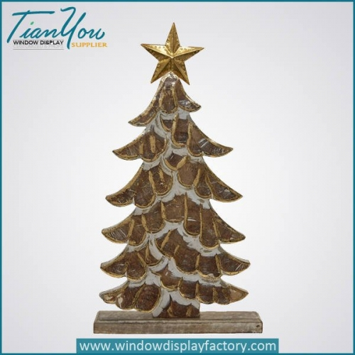 Artificial Custom Wood Christmas Tree Decoration