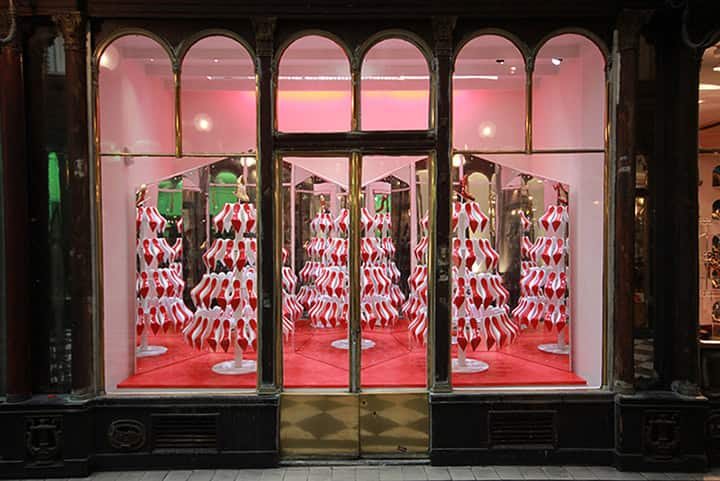 Christian Louboutin Christmas window