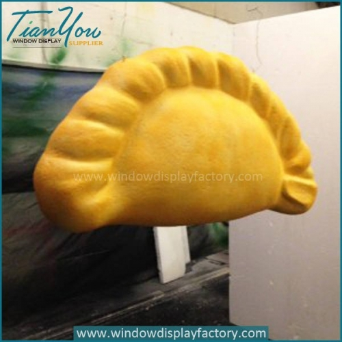 Chinese Style Giant Hand Carved Foam Dumpling Display