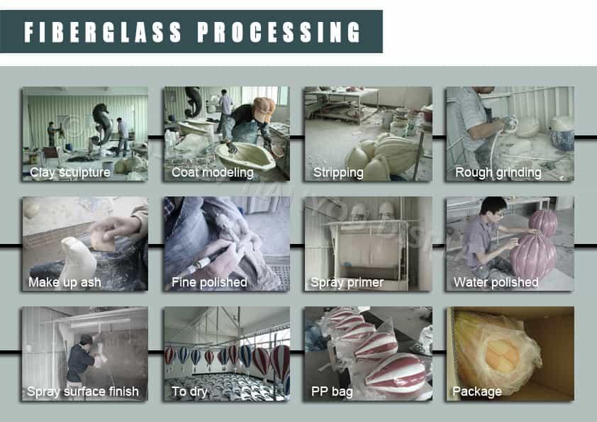 Fiberglass Window Display Props Process