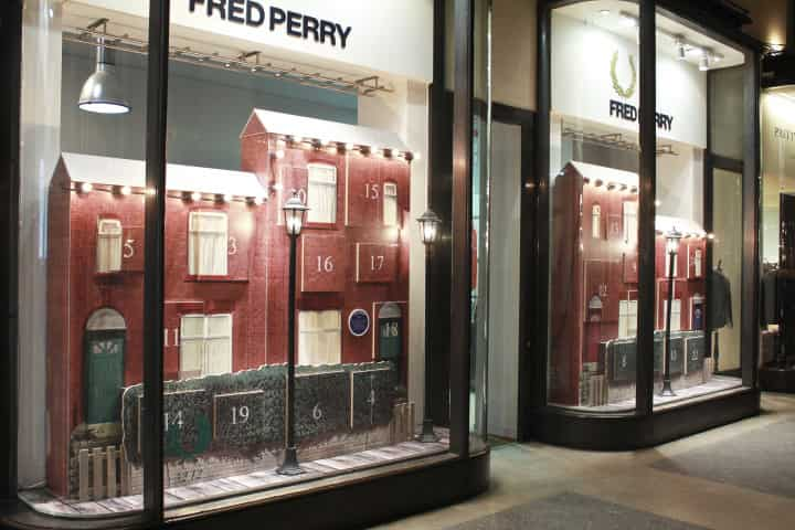 Fred Perry Christmas Window Display