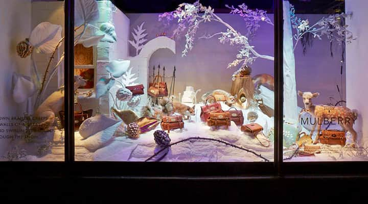 Mulberry Harrods 2013 Christmas window display