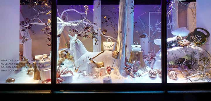 Mulberry Harrods 2013 Christmas window
