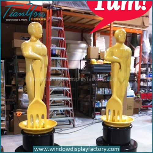 Outdoor Life Size Yum Brands Award Statues Display