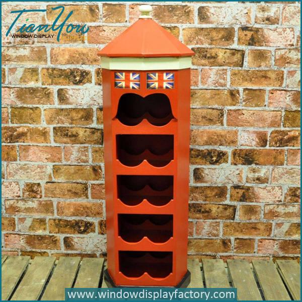Modern Antique Wooden Round Fiberglass Wine Cabinet
