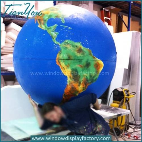 Giant Decorative Craft Plastic Globe Display Decoration