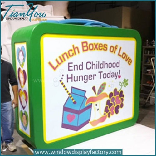 Adversting Outdoor Giant Acrylic Lunch Box with Logo Signs