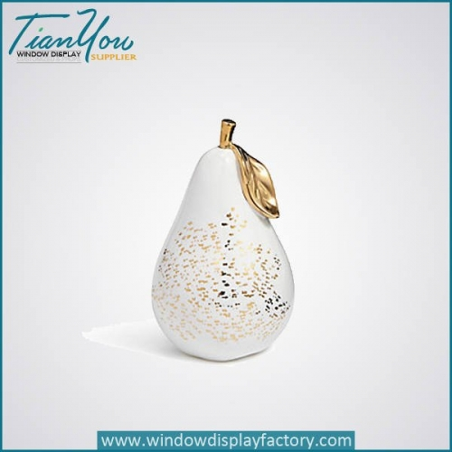 Decorative Fruit Artificial Fiberglass Fake Pear Display