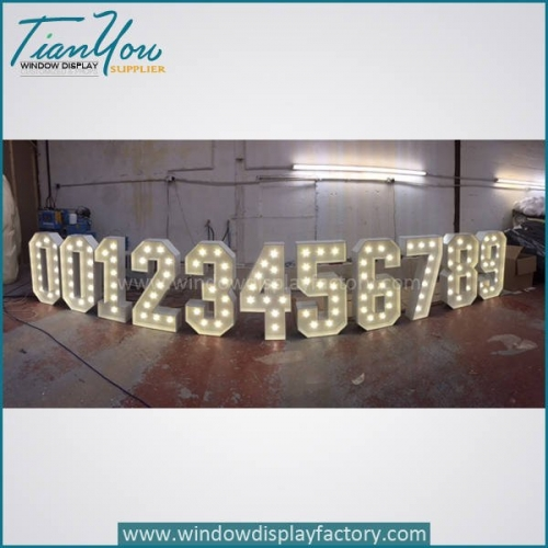 number light 500x500 - Popular Giant Acrylic Retro Light Up Numbers Decoration