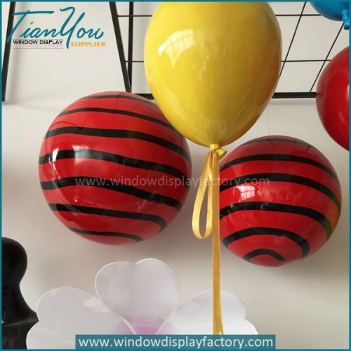 Life Size Colorful Custom Plastic Christmas Ball Decoration